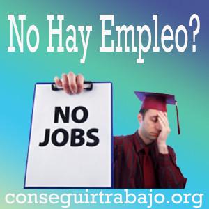 no hay empleo